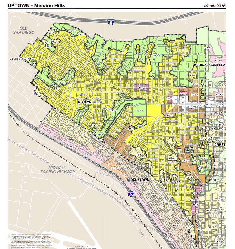 The boundaries of Mission Hills as shown on a proposed 2015 city zoning map