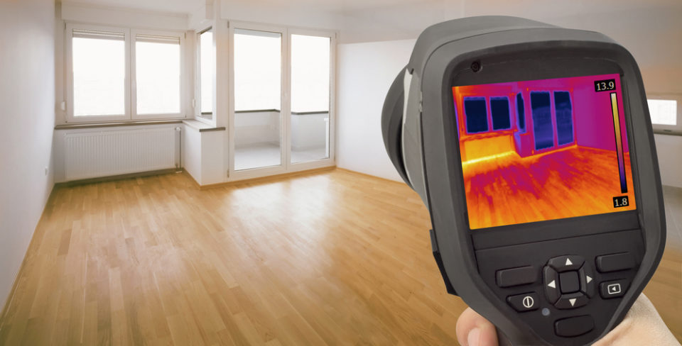 thermal imager of a home inspector
